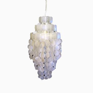 Acrylic Tile Hanging Lamp, 1960s