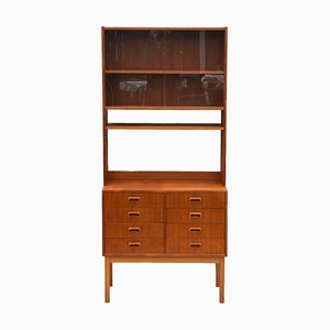 Vintage Teak Shelving Wall Unit Bookcase Cabinet, Sweden, 1960s