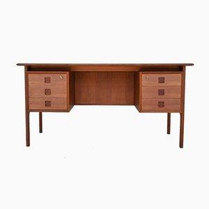 Teak Desk by Erik Brouer for Brouer Møbelfabrik, Denmark, 1960s