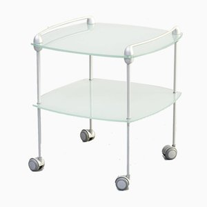 Glass and Aluminium Trolley from Ligne Roset, 1990s