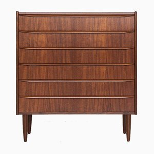 Mid-Century Danish Teak Chest of 6-Drawers with Long Drawer Handle, 1960s