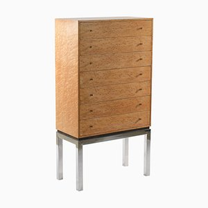 Italian Midcentury Chest of Drawers with a Metal Base by Willy Rizzo