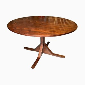 Mid-Century Italian Round Dining Table by Gianfranco Frattini for Bernini, 1960s