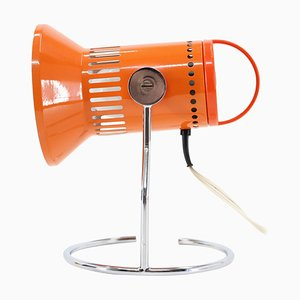 Orange Adjustable Table Lamp, Czechoslovakia, 1970s