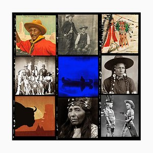 Cowboys and Indians 1'' Illuminated Lenticular by Matthew Andrews