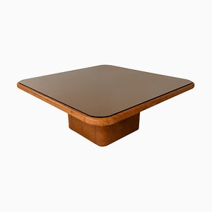 Patinated Cognac Leather Coffee Table from de Sede, Switzerland, 1970s