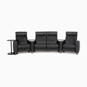 Dark Green Leather Arion 4-Seat Sofa from Stressless