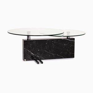 Tavolino da caffè in vetro e marmo di Rolf Benz