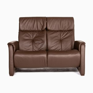 Dunkelbraunes Himolla 2-Sitzer Relax Relax Sofa aus Leder von Himolla