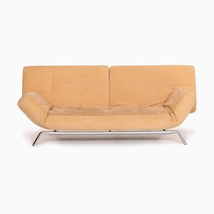 Beige Microfiber Fabric Smala 3-Seat Sofa Bed by Pascal Mourgue for Ligne Roset