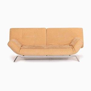 Beigefarbenes 3-Sitzer Sofa-Sofa von Pascal Mourgue aus Mikrofaser für Ligne Roset