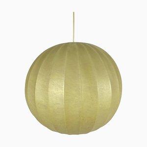 Mid-Century Modern Round Cocoon Pendant Lamp, Italy, 1960s