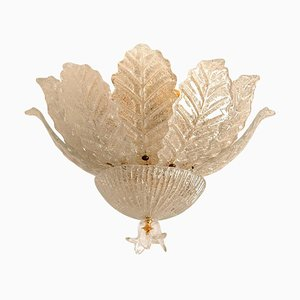 Murano Glass Flush Mount from Barovier & Toso, Italy, 1970s