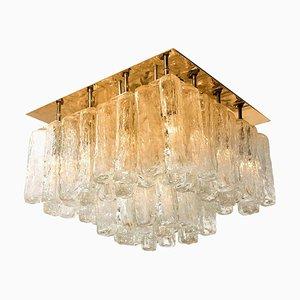 Granada Deckenlampe aus Glas & Messing von JT Kalmar, Österreich, 1960er