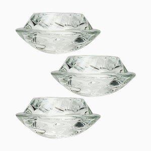 Bougeoirs Votive en Cristal de Verre de Royal Copenhagen, 1970s, Set de 3