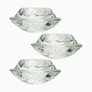 Crystal Glass Votive Candleholders from Royal Copenhagen, 1970s, Set of 3