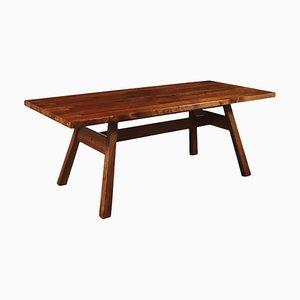 Walnut Veneer Table by Giovanni Michelucci for Poltronova, 1970s