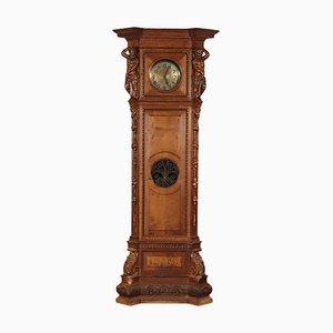 Italian Neo-Renaissance Walnut Pendulum Clock