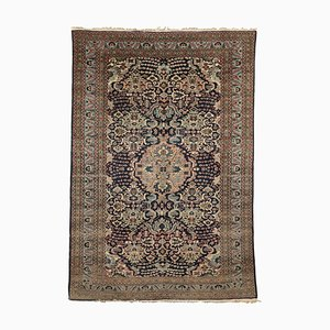 Vintage Wool and Cotton Ardabil Carpet