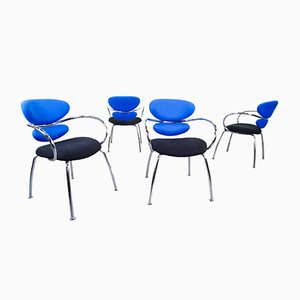Italian Cantilever Chairs from Effezeta, 1990s, Set of 4