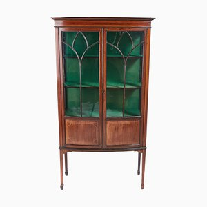 Mahogany Inlaid Display Cabinet, 1900s