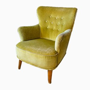 Mid-Century Yellow Cocktail Armchair by Theo Ruth for Artifort, 1960s