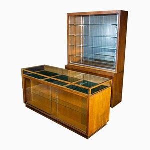 Shop Display Case with Mirror Wall, 1930s