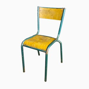 Vintage French Blue Chair from Mullca, 1950s
