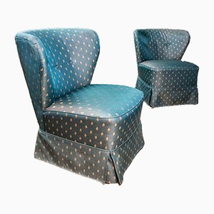 Mid-Century Blue Cocktail Armchairs, 1960s, Set of 2