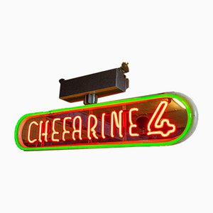 Vintage Neon Chefarine 4 Schild, 1960er