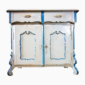 Antique Swedish Blue Painted Chest of Drawers, 1900s
