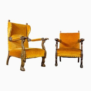 Vintage Spanish Hotel Orange Armchair, 1960s