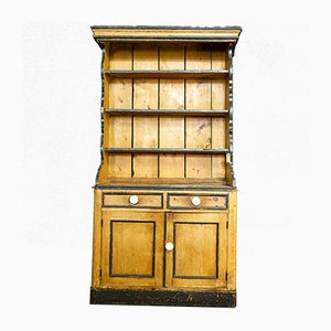 Antique Swedish Brown Plate Cupboard, 1900s