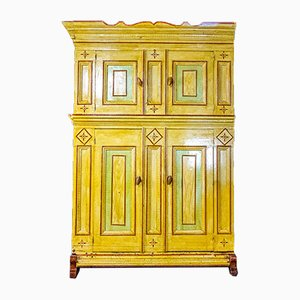Antique Hand-Painted Cupboard