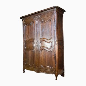 Large Antique Oak Wardrobe, 1880s