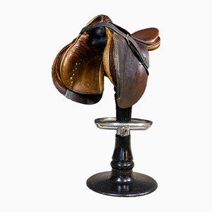 Vintage Leather Saddle Barstool