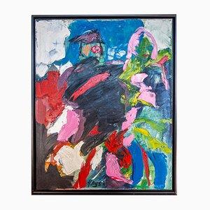 Grande Peinture à l'Huile Moderne par Hendrik Nijs