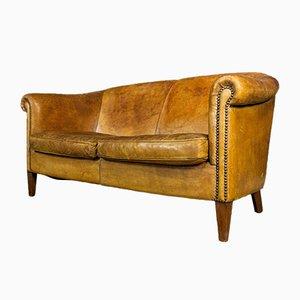 Vintage Brown Sheep Leather Sofa from Nico van Oorschot