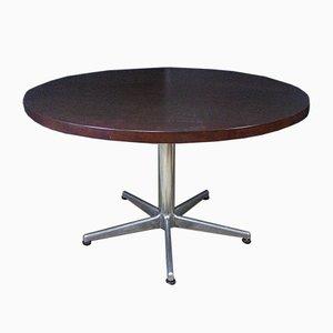 Vintage Round Table with Dark Wood Top by Anna Castelli Ferrieri
