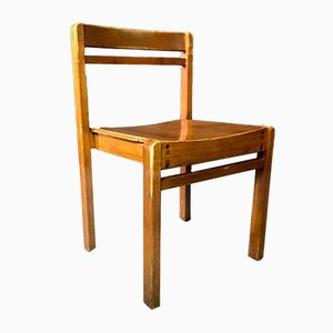 Vintage Wooden School Chair from Cambridge University, 1960s