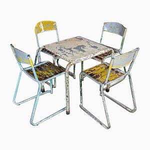 Conjunto de terraza Amstel antiguo con sillas y mesa, años 30
