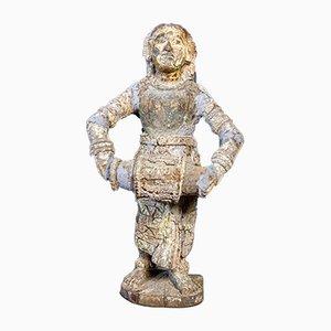 Wabi Sabi Weathered Wooden Sculpture of Woman