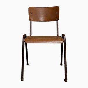 Vintage School Brown Stacking Chair
