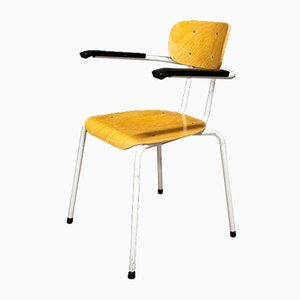 Vintage Stackable School Chair with Armrest