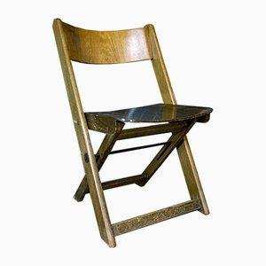 Chaise Pliante Vintage en Bois Vert, 1960s