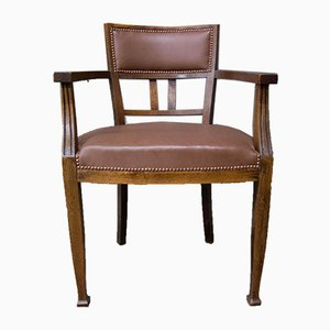Antique Chair with Leather Upholstery