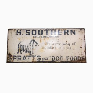 Insegna pubblicitaria vintage di Smatt's Dog Foods, Regno Unito