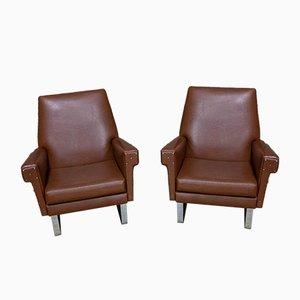Vintage Leatherette Armchair