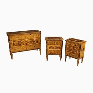 Louis XVI Style Italian Rosewood Nightstands, 1960s, Set of 2