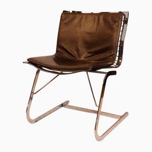 Esszimmerstühle aus Chrom & Leder von Apelbaum, 1970er, 2er Set